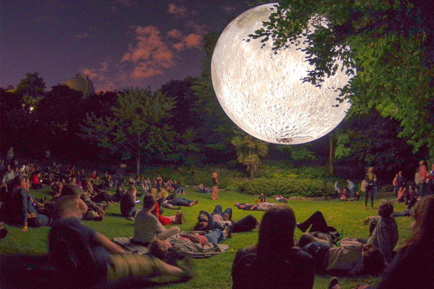 Museum of the Moon: Luke Jerram's Giant Illuminated Lunar Replica on World Tour | Yellowtrace