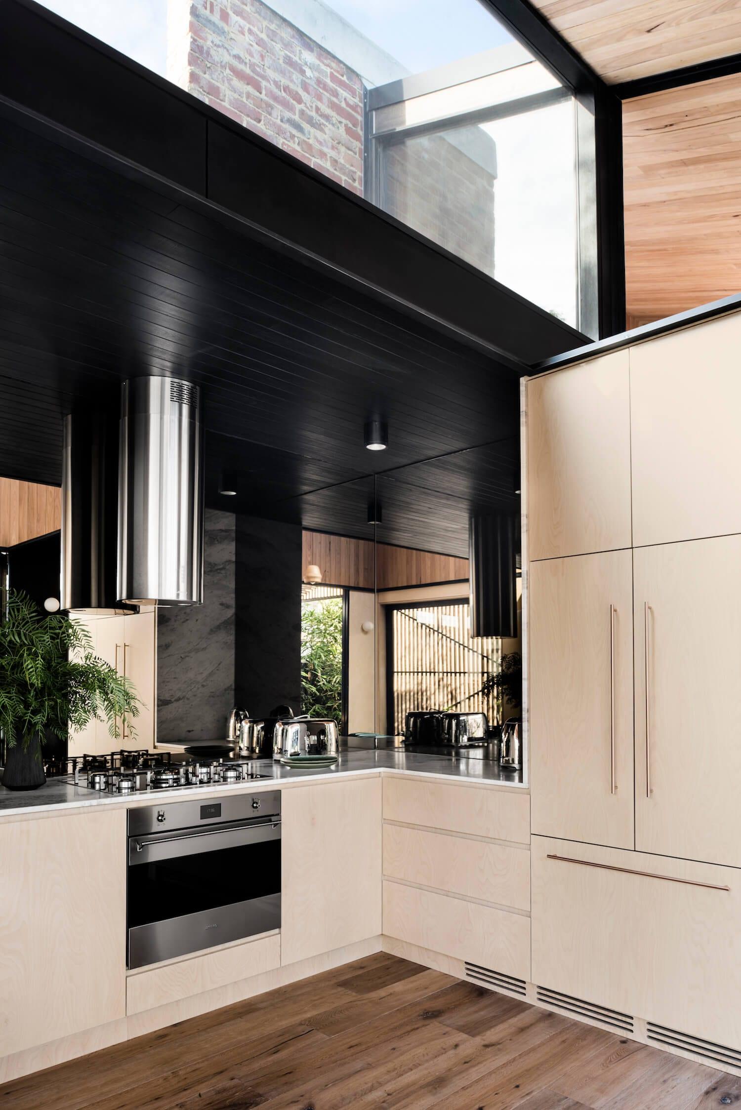 Smeg Classic in Light Corridor House by FIGR Architecture & Designm   Yellowtrace