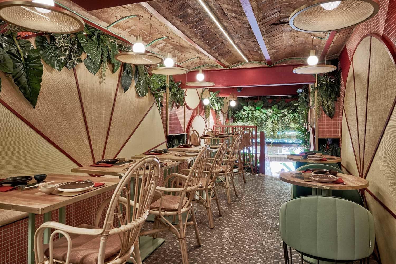 Kaikaya Tropical Sushi Restaurant Valencia By Masquespacio Yellowtrace