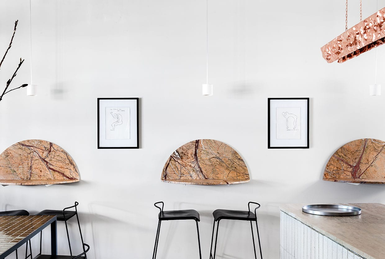 Pembroke Bar & Kitchen by Fiona Lynch & Sculptor Michael Gittings | Yellowtrace