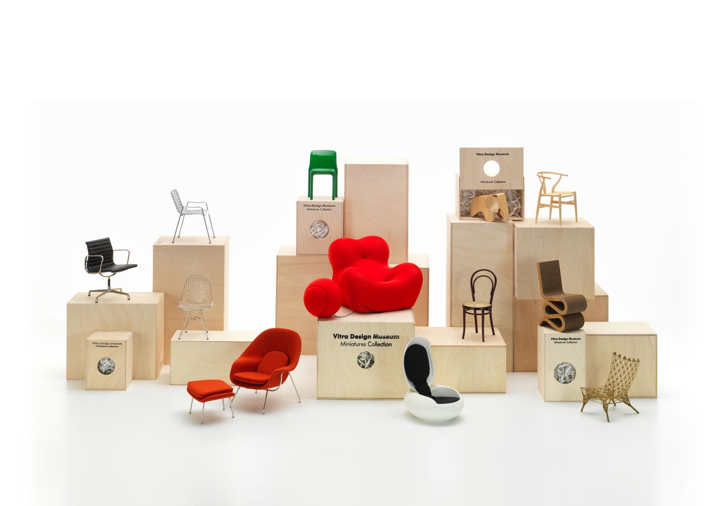Vitra 100 Miniatures Exhibition Arrives Living Edge | Yellowtrace