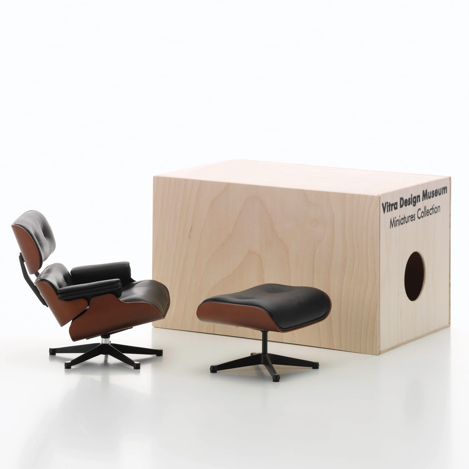 Vitra Miniatures Lounge Chair & Ottoman Living Edge | Yellowtrace