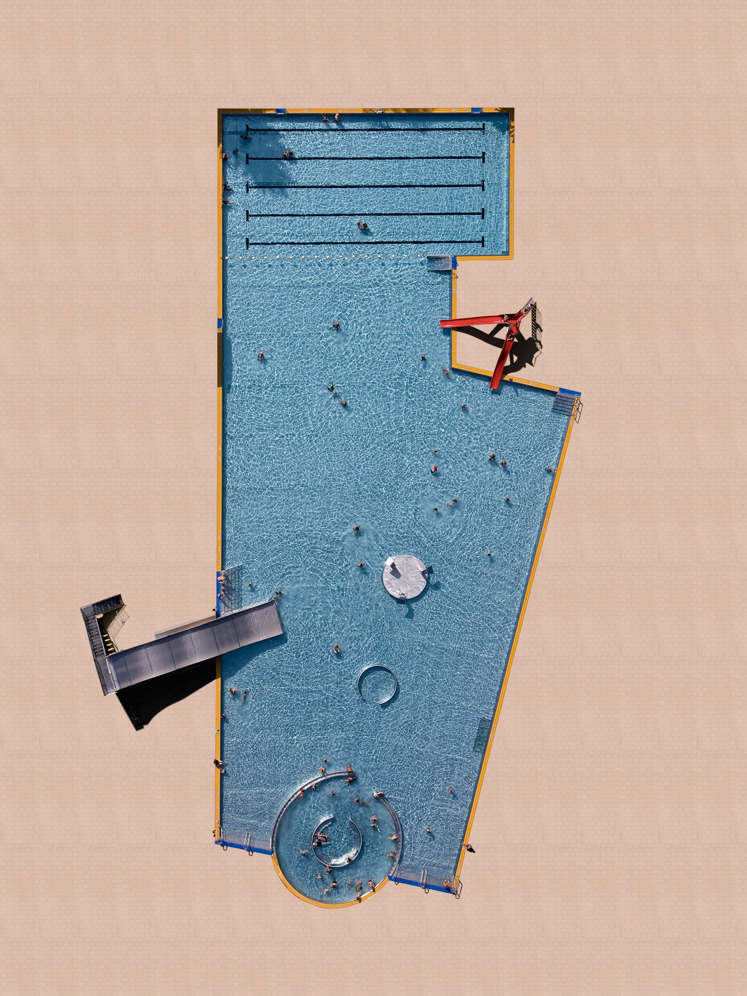 Abstract Aerials of Public Swimming Pools Shot with Drones by Stephan Zirwes | Yellowtrace