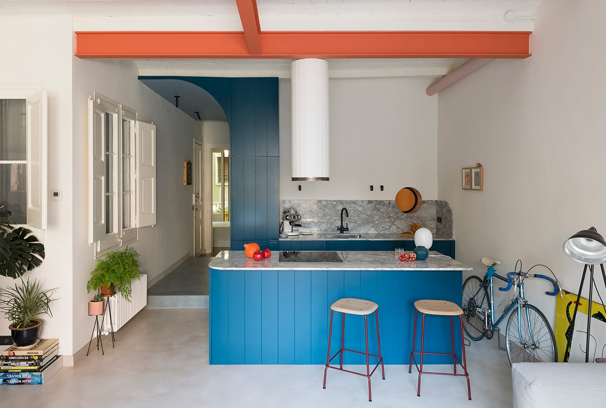 Font 6 Apartment in Barcelona by Colombo and Serboli Architecture | Yellowtrace