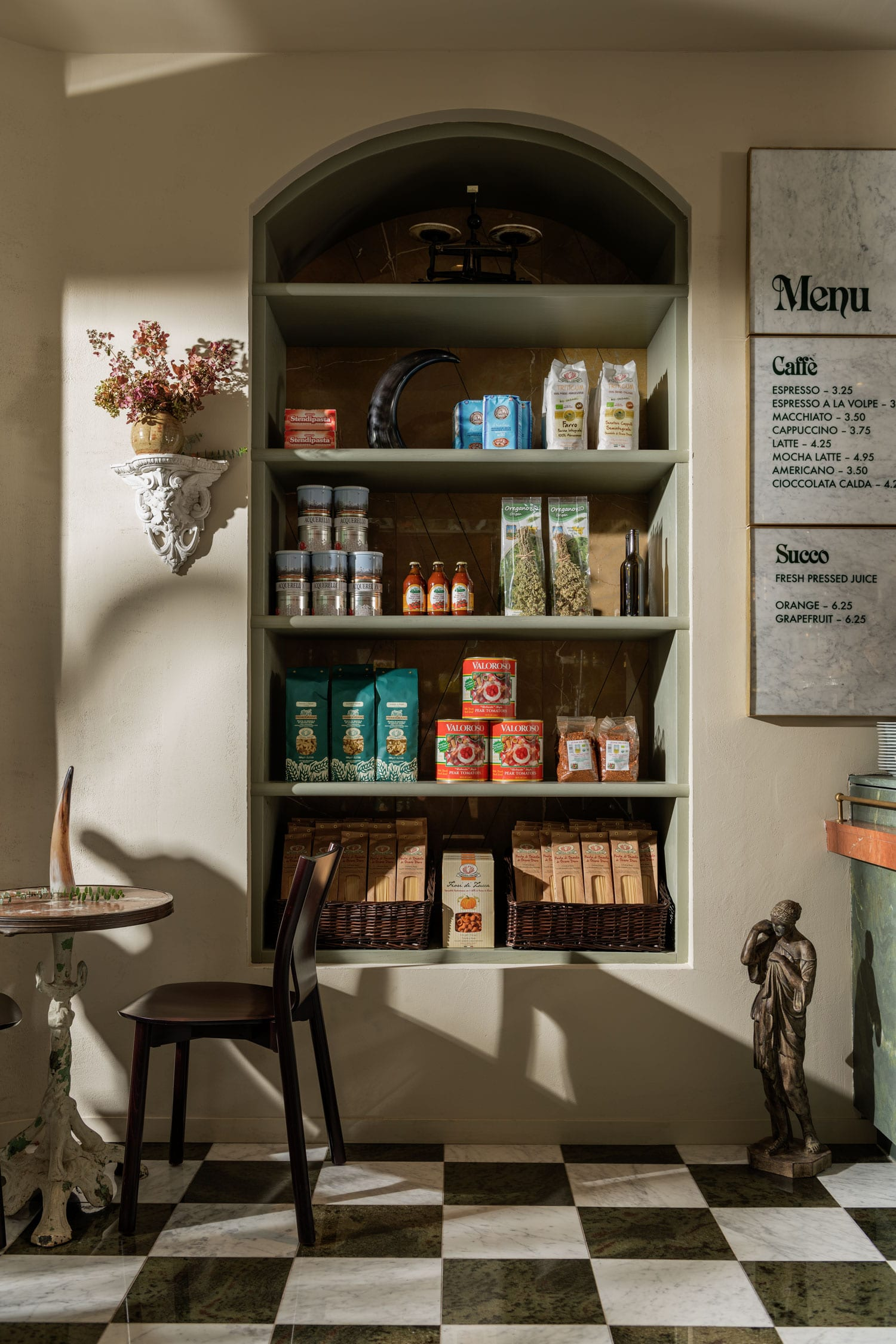 La Tana Café in Vancouver, Canada by Ste. Marie Art and Design. Photo by Conrad Brown   Yellowtrace