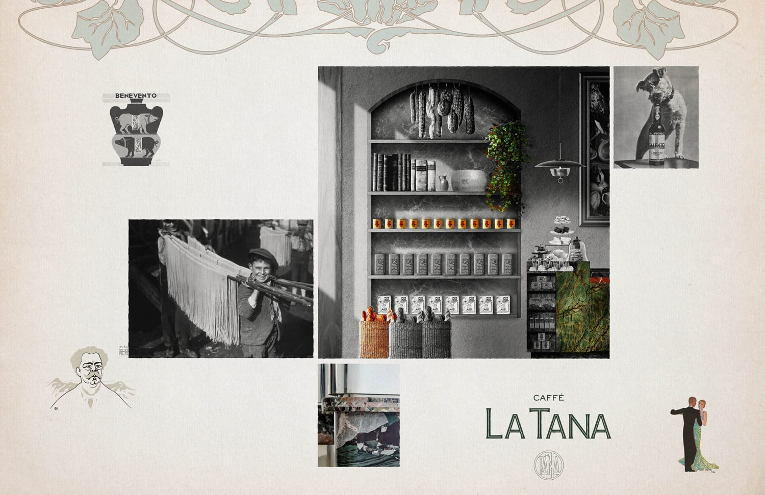 La Tana Café in Vancouver, Canada by Ste. Marie Art and Design | Yellowtrace