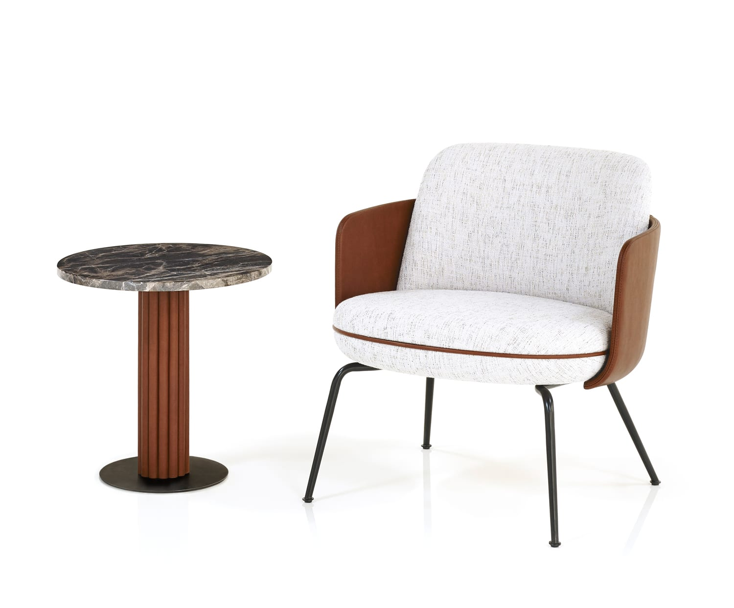 Merwyn Lounge Chair & Miles Side Table by Sebastian Herkner for Wittmann at Imm Cologne 2019   Yellowtrace