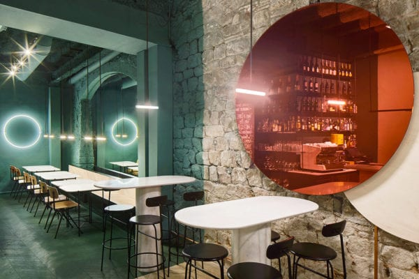 Orvay Wine Bar in Barcelona by Isern Serra & Sylvain Carlet | Yellowtrace