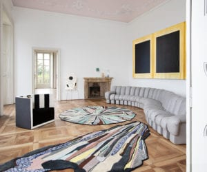 cc-tapis Rug Collection Photographed Inside Villa Panza in Varese | Yellowtrace
