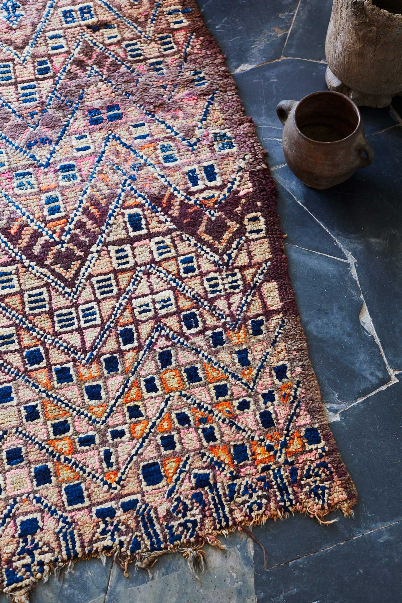 Tigmi Trading Rug Collection Shot Inside Studio KO's Villa E in Morocco | Yellowtrace