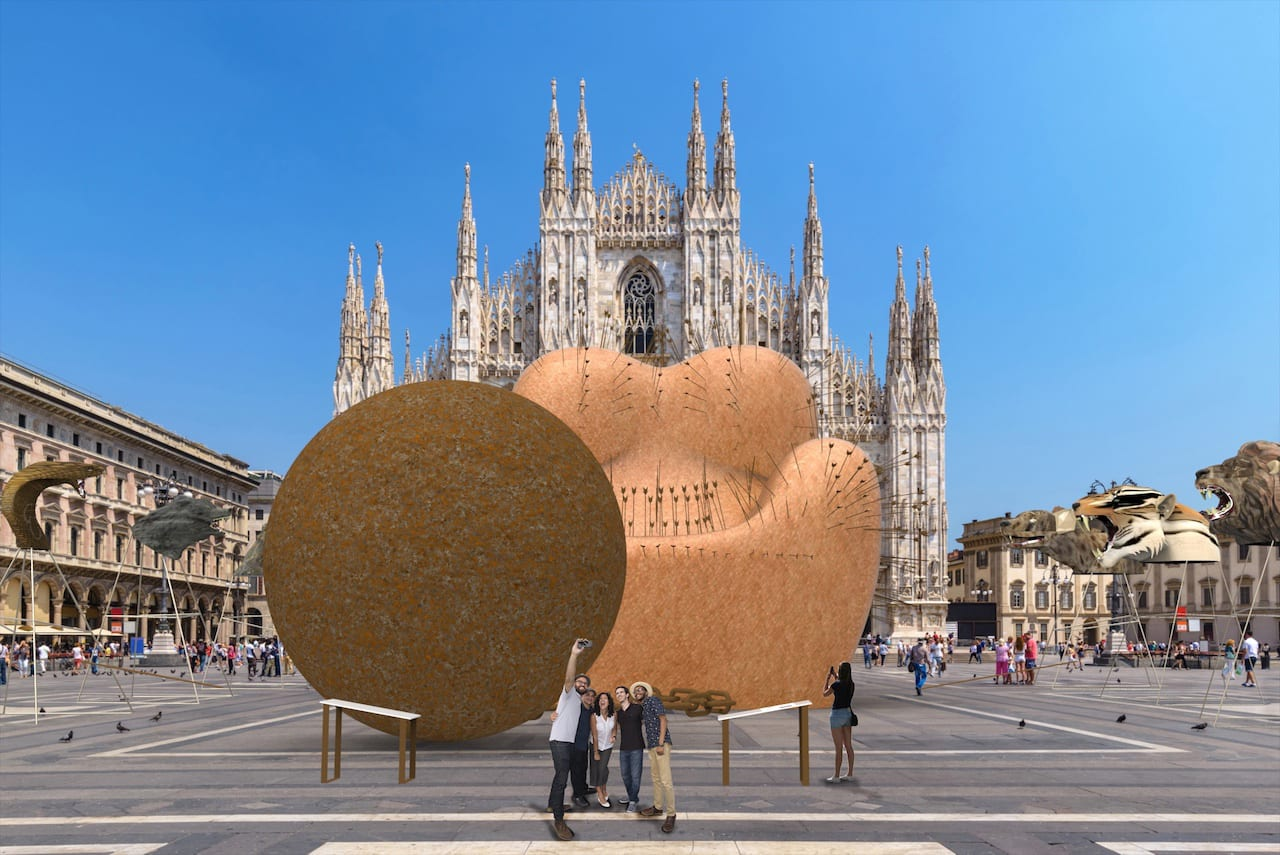 Gaetano Pesce at Piazza Duomo | Yellowtrace