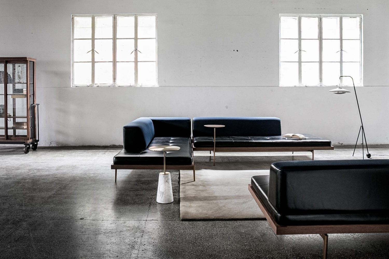 Cabinet of Curiosity Discipline sofas & Bund table by Neri&Hu, Haro floor light by Space Copenhagen for Stellar Works | Milan Design Week 2019 | Yellowtrace
