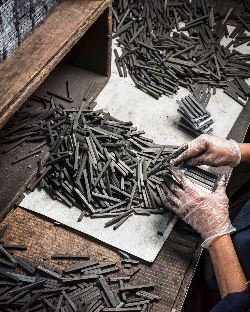 Christopher Payne Photographs the Production Line of One of America's Last Pencil Factories | Yellowtrace