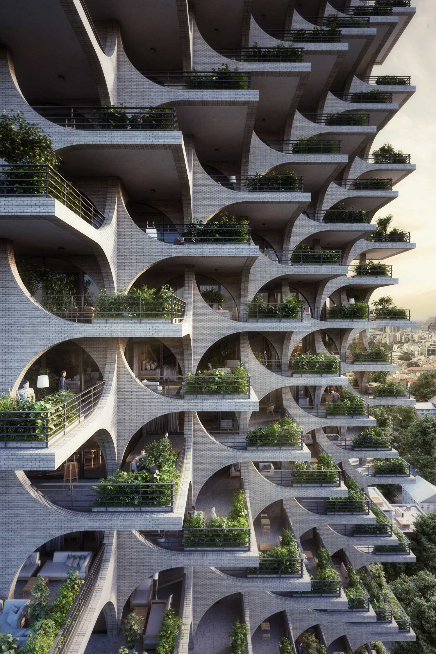 Residential Tower in Tel Aviv by Penda | Yellowtrace