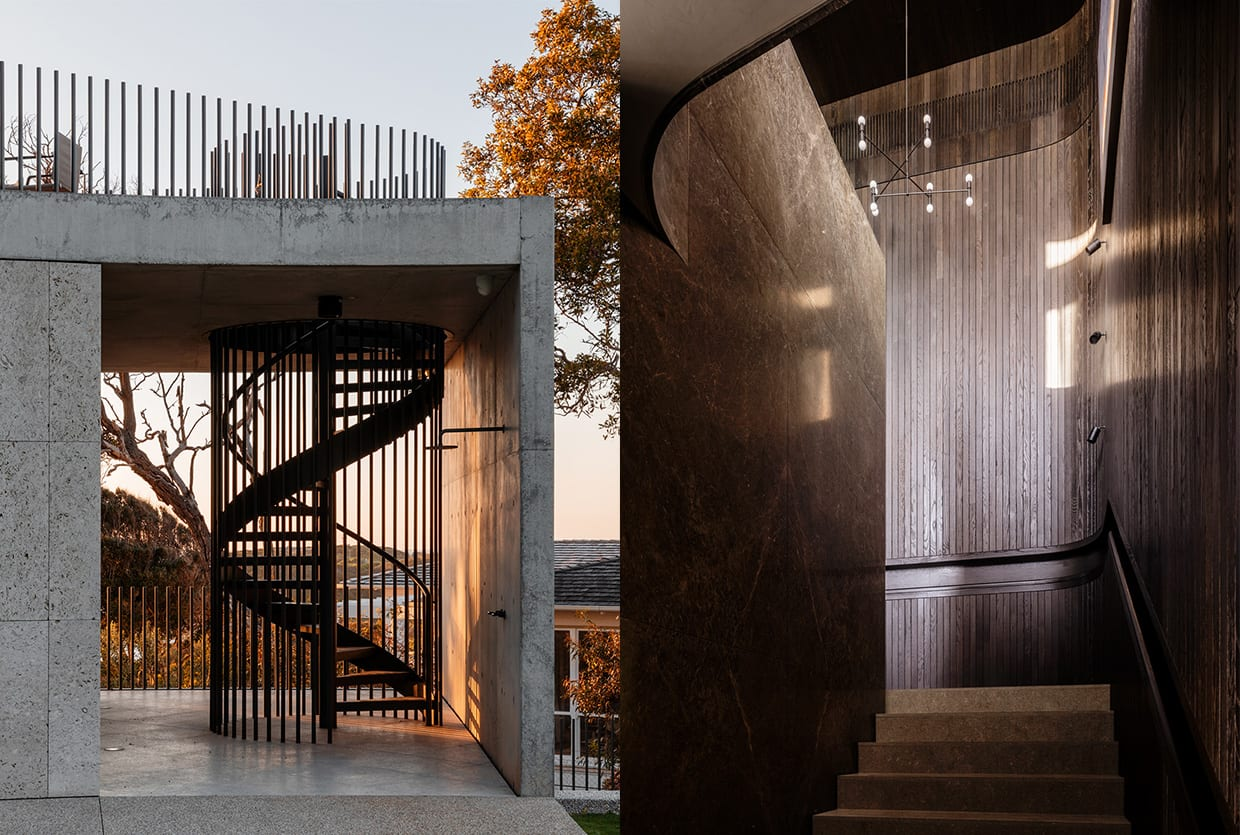 Tidal Arc House in Flinders, VIC by Hecker Guthrie, Woods Bagot & Simone Haag | Yellowtrace