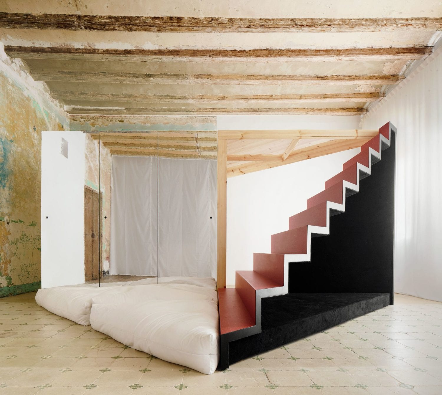 Transforming Room For Child Inside Barcelona Apartment By P M A A Yellowtrace 07