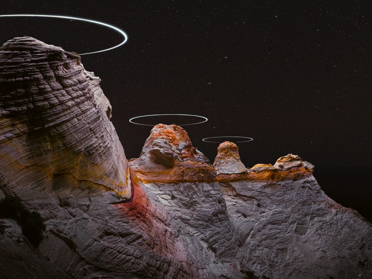 Reuben Wu Captures Light Paths With Drones Above Natural Landscapes | Yellowtrace