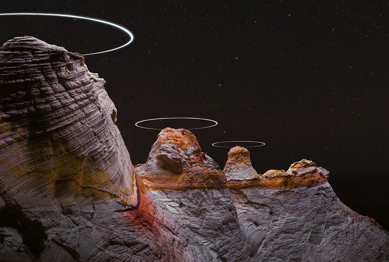 Reuben Wu Captures Light Paths Above Natural Landscapes