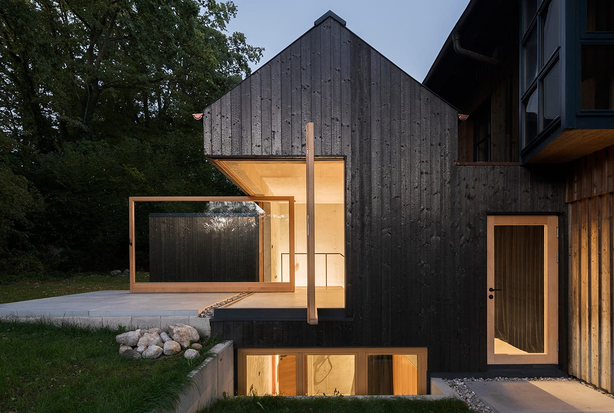 Black Lakeside House In Rural Germany By Buero Wagner Yellowtrace