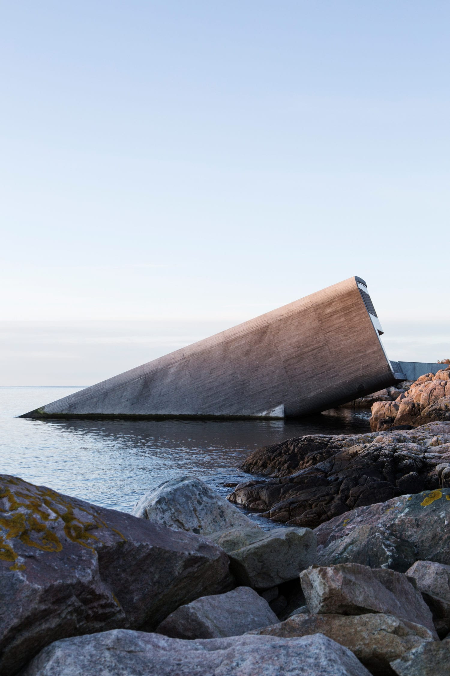 Extraordinary Underwater Restaurant in Lindesnes, Norway by Snøhetta | Yellowtrace