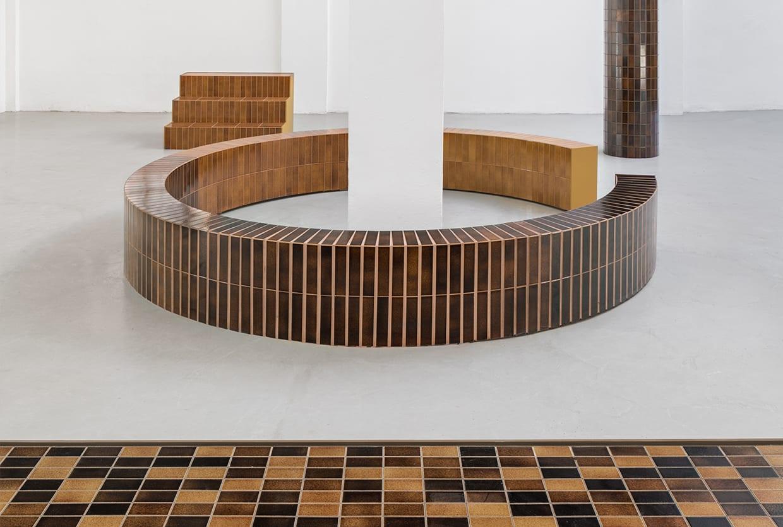 Excinere Volcanic Ash Glazed Tiles by Formafantasma For Dzek | Yellowtrace