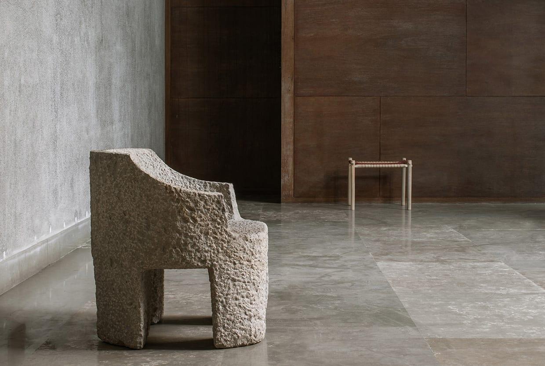 Studio Mumbai Handmade Furniture Maniera Gallery in Brussels | Yellowtrace