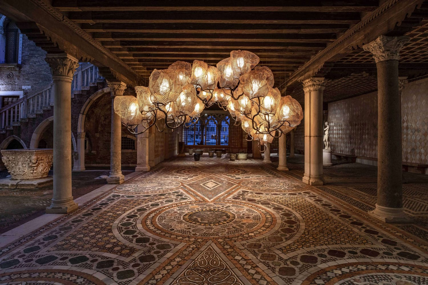 Inside A Forest Cloud Chandelier by Nacho Carbonell at Venice Art Biennale 2019 | Yellowtrace