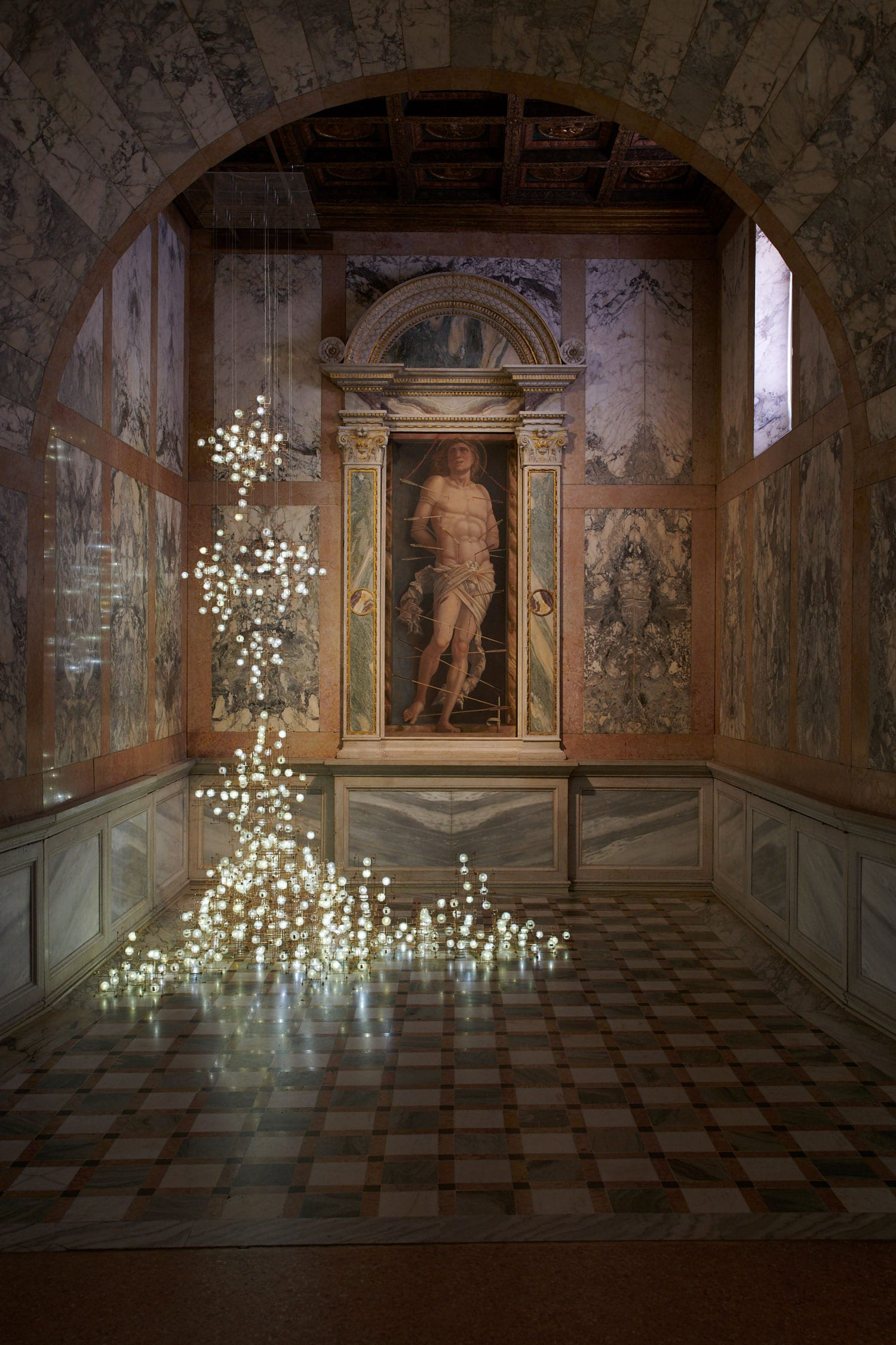 Fragile Future Chandelier by Studio Drift at Venice Art Biennale 2019 | Yellowtrace