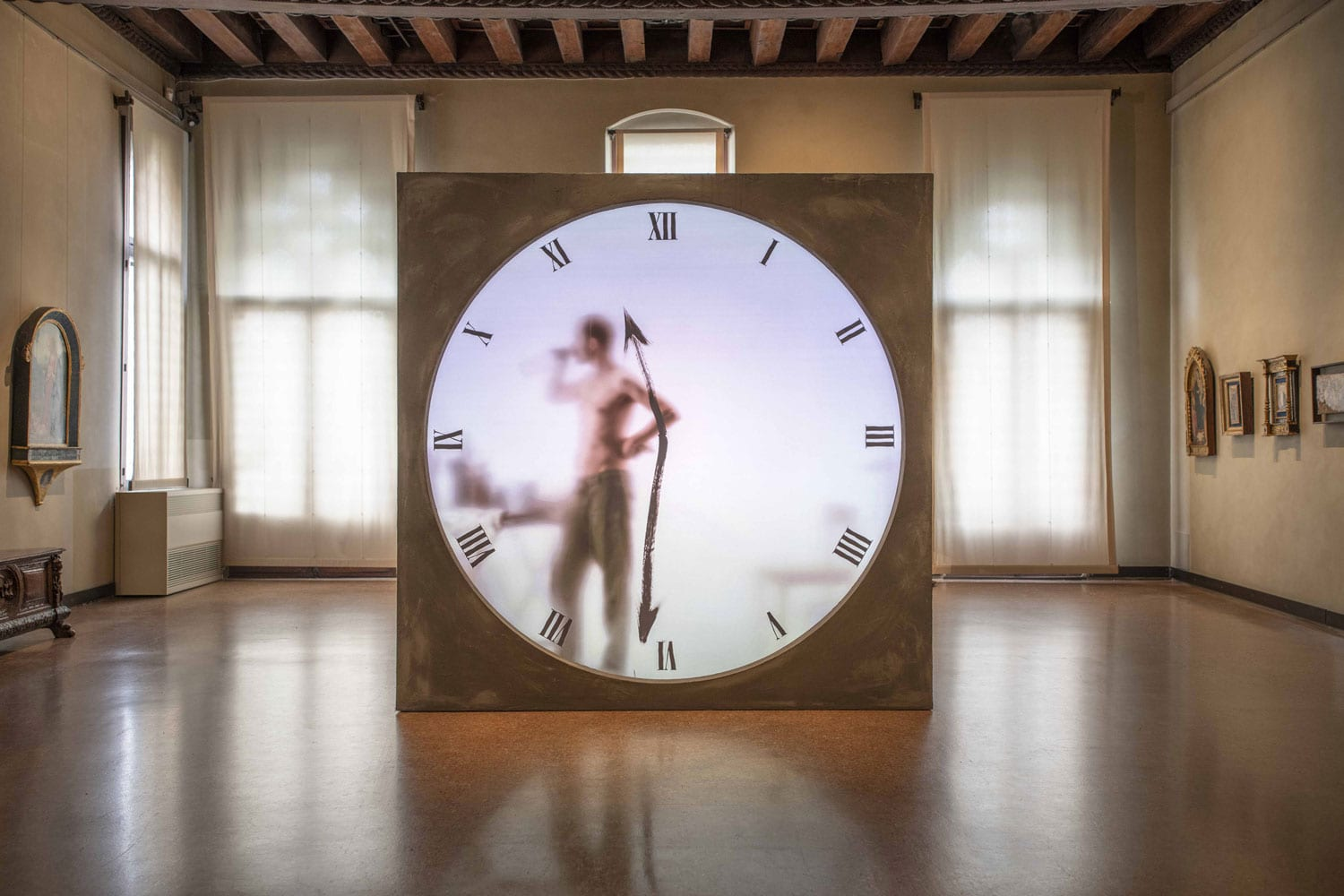 Real Time Xl Clock by Maarten Baas at Venice Art Biennale 2019 | Yellowtrace