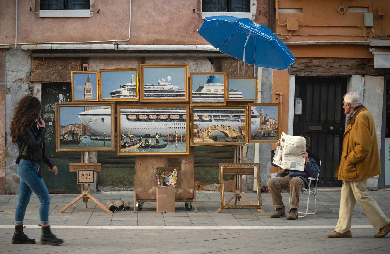 Venice in Oil by Banksy at Venice Venice Art Biennale 2019 | Yellowtrace