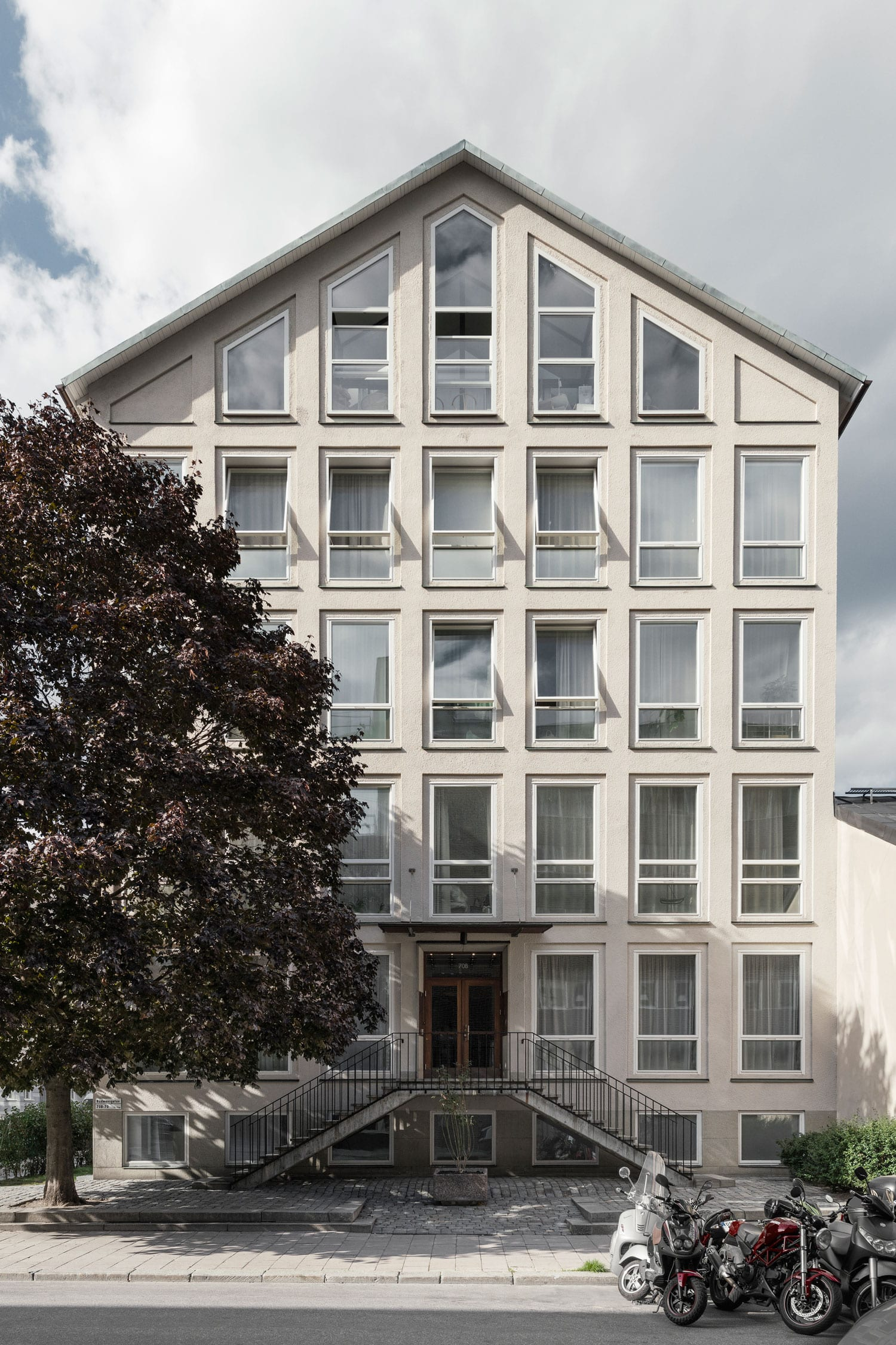 Lyceum University Building in Stockholm Converted Into Apartments by Andreas Martin-Löf Arkitekter | Yellowtrace