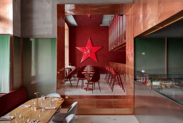 Pink Mama Restaurant Moscow By Crosby Studios Yellowtrace