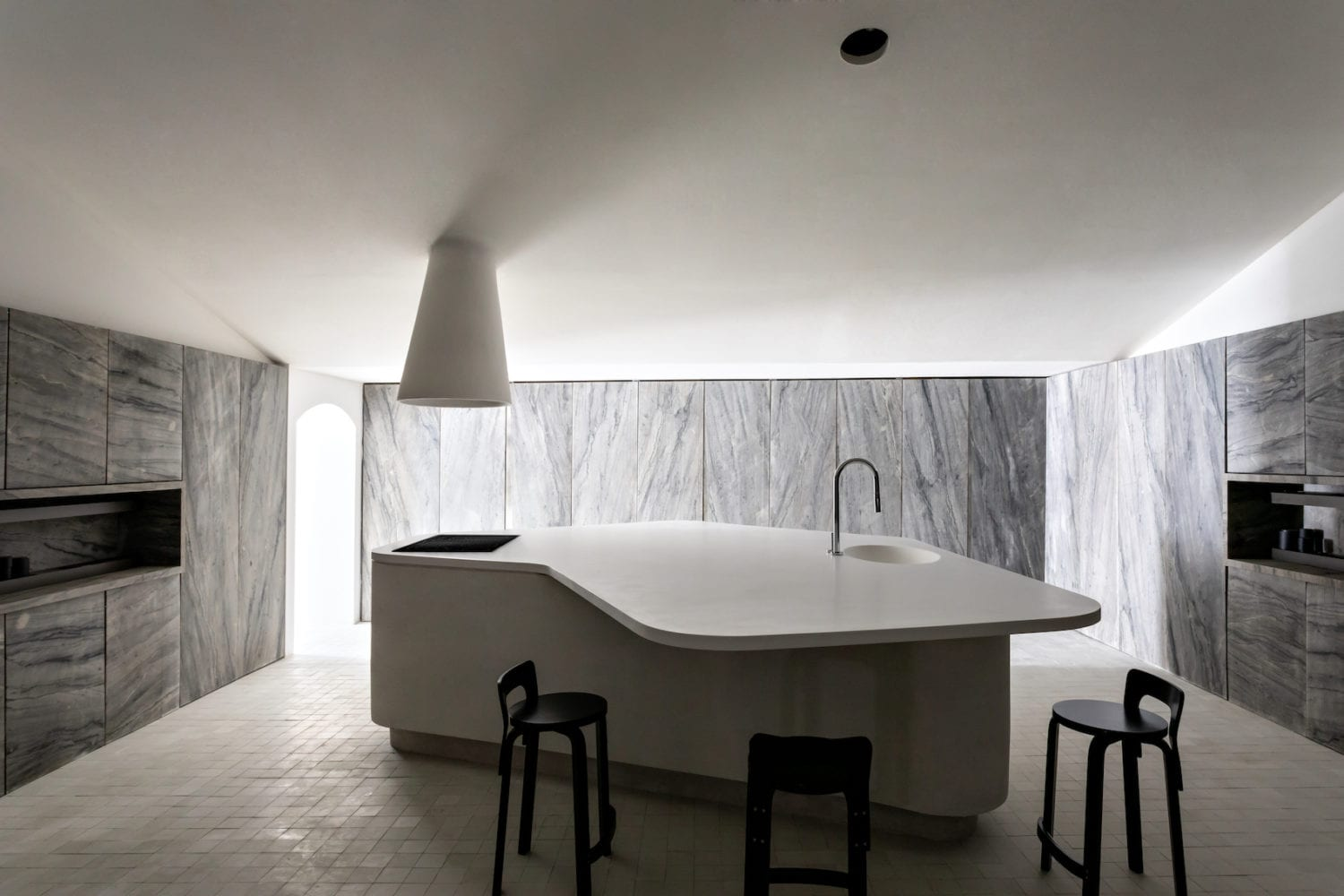 Cucina Pietra (Stone Kitchen) Concept in Sao Paulo by Felipe Hess.