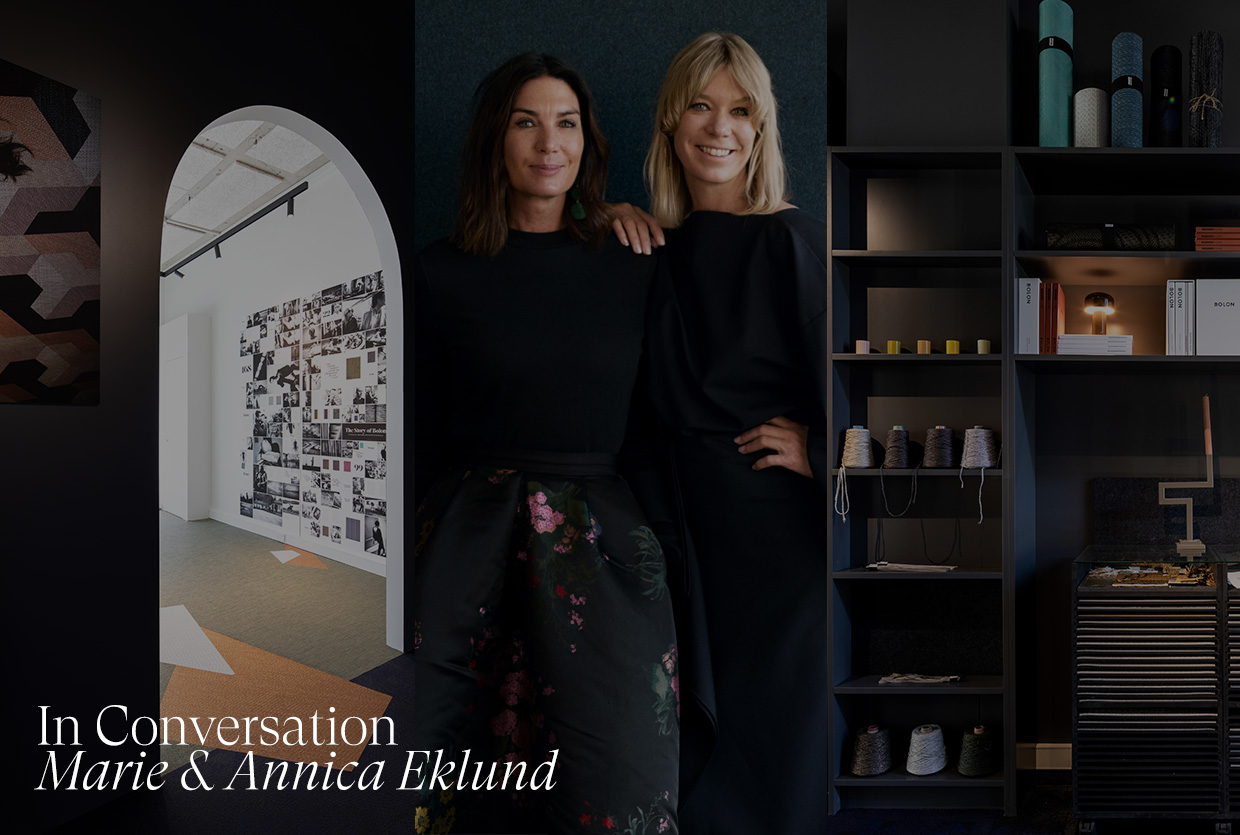 In Conversation with Marie & Annica Eklund at BOLON Sydney Showroom.