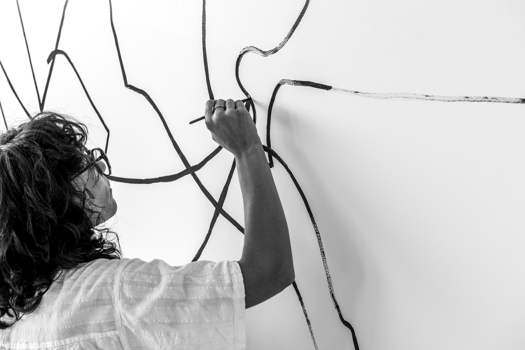 Avian Apartment Renovation Brisbane by Alicia Holgar, BTS with Artist Jessalyn Brooks | Yellowtrace