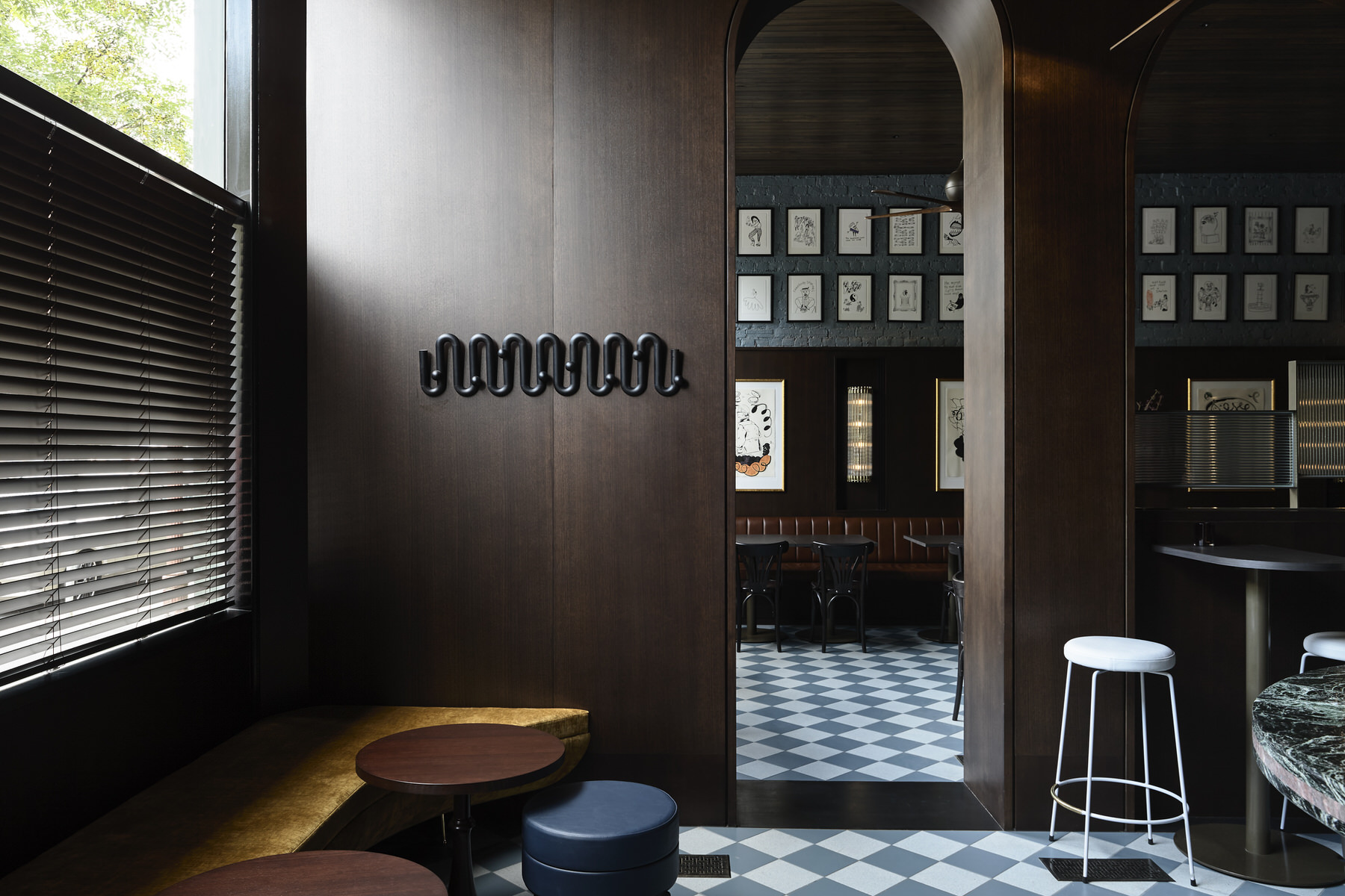 Bergman & Co, Poodle Bar and Bistro, Melbourne Hospitality Design, Photo Derek Swalwell | Yellowtrace