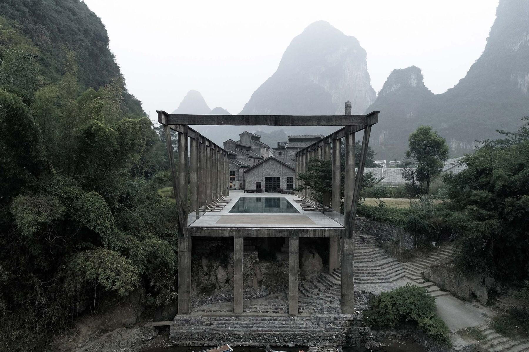 Yangshuo Sugar House, Luxury Hotel China, Adaptive Reuse, Vector Architects, Photo Su Shengliang | Yellowtrace