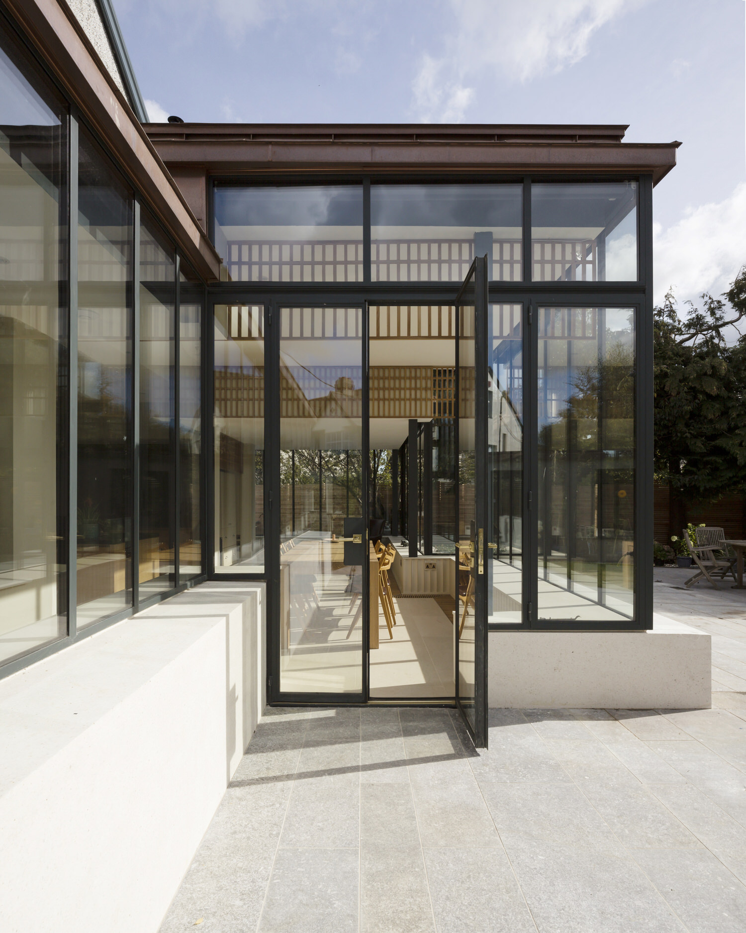 Glass Ribbon House Extension in Dublin by Scullion Architects.