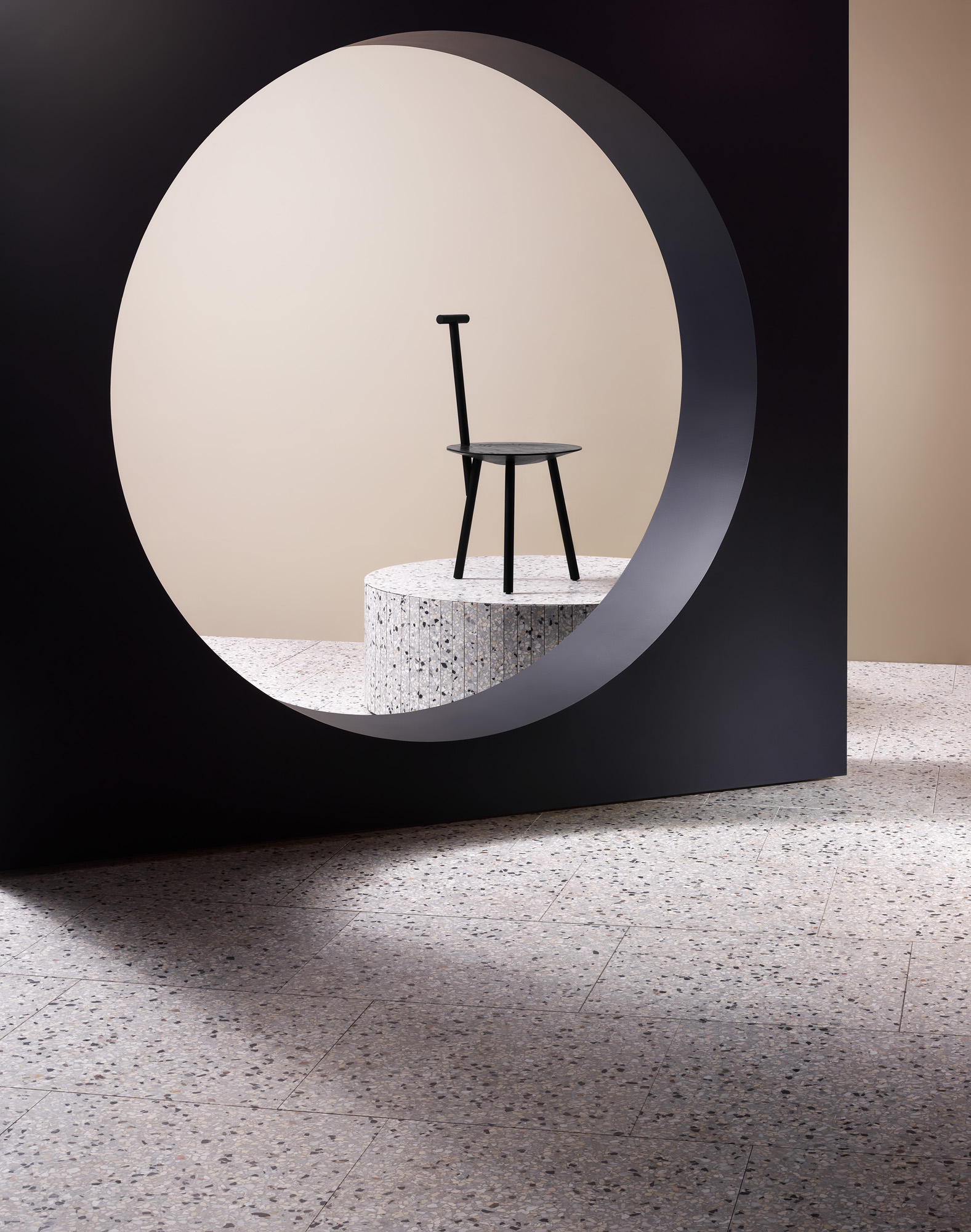 Fibonacci Stone, Ghosted Terrazzo Tile Collection Launch, Photo Haydn Cattach, Styling Nat Turnbull | Yellowtrace