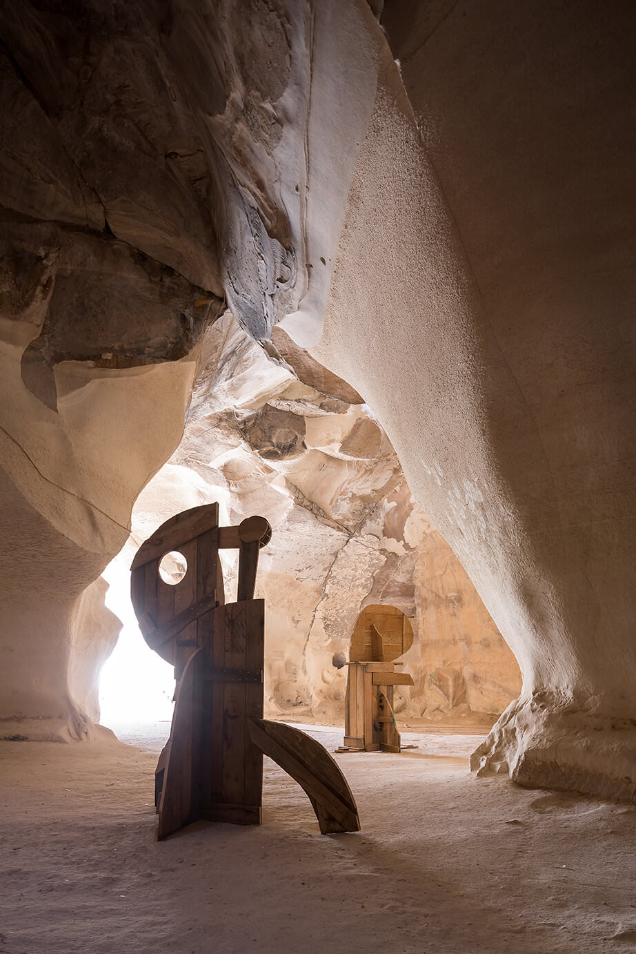 Ivo Bisignano's Solo Exhibition 'Human Forms' set in an Ancient Israel Cave.