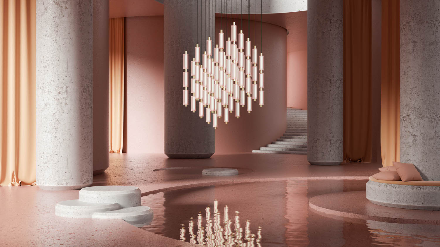 Metropol Installation Sebastian Herkner For Rakumba, Lighting Design | Yellowtrace