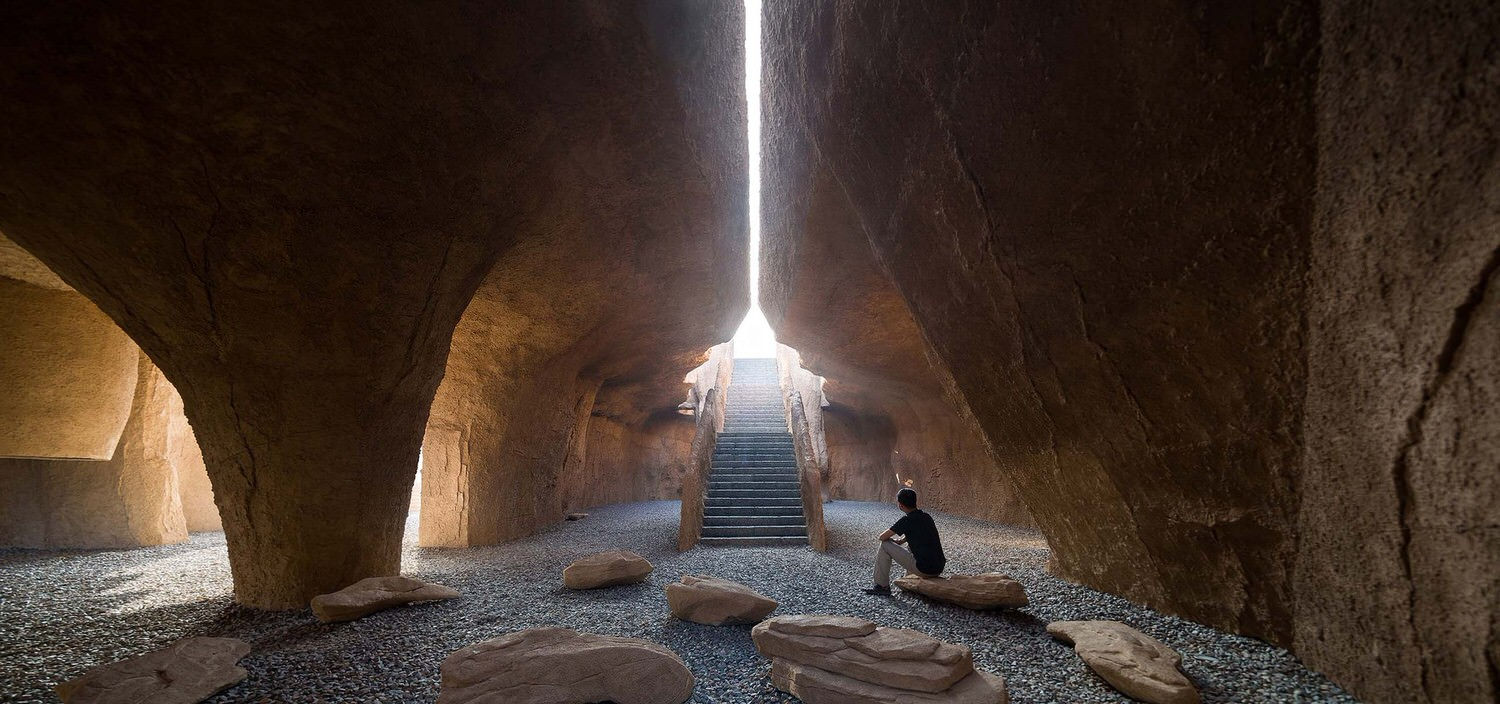 Holy Fire Lit Place in China by URBANUS, Underground Civic Architecture | Yellowtrace
