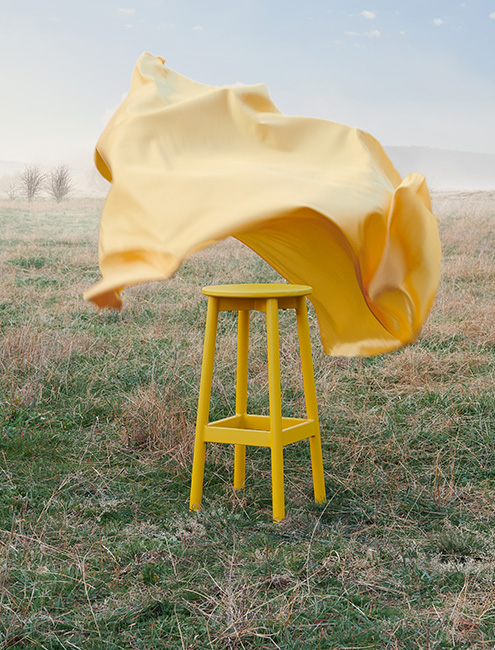 Didier Fable Outdoor Stool Yellowtrace