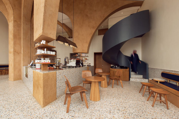 Azaz Architects Elixir Bunn Coffee Roasters Riyadh Saudi Arabia Terrazzo Interiors Yellowtrace