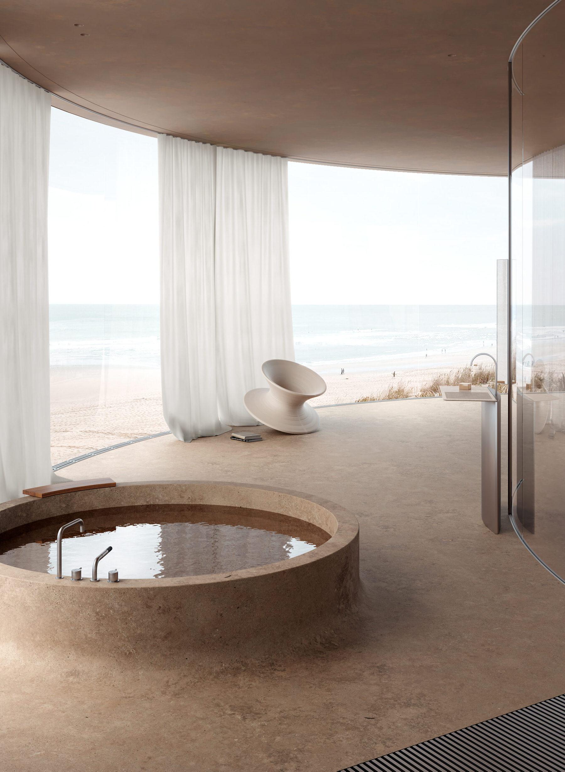 Beach Hotel Concept Room in Odessa, Ukraine byAlexey Gulesha ofSivak Partners.