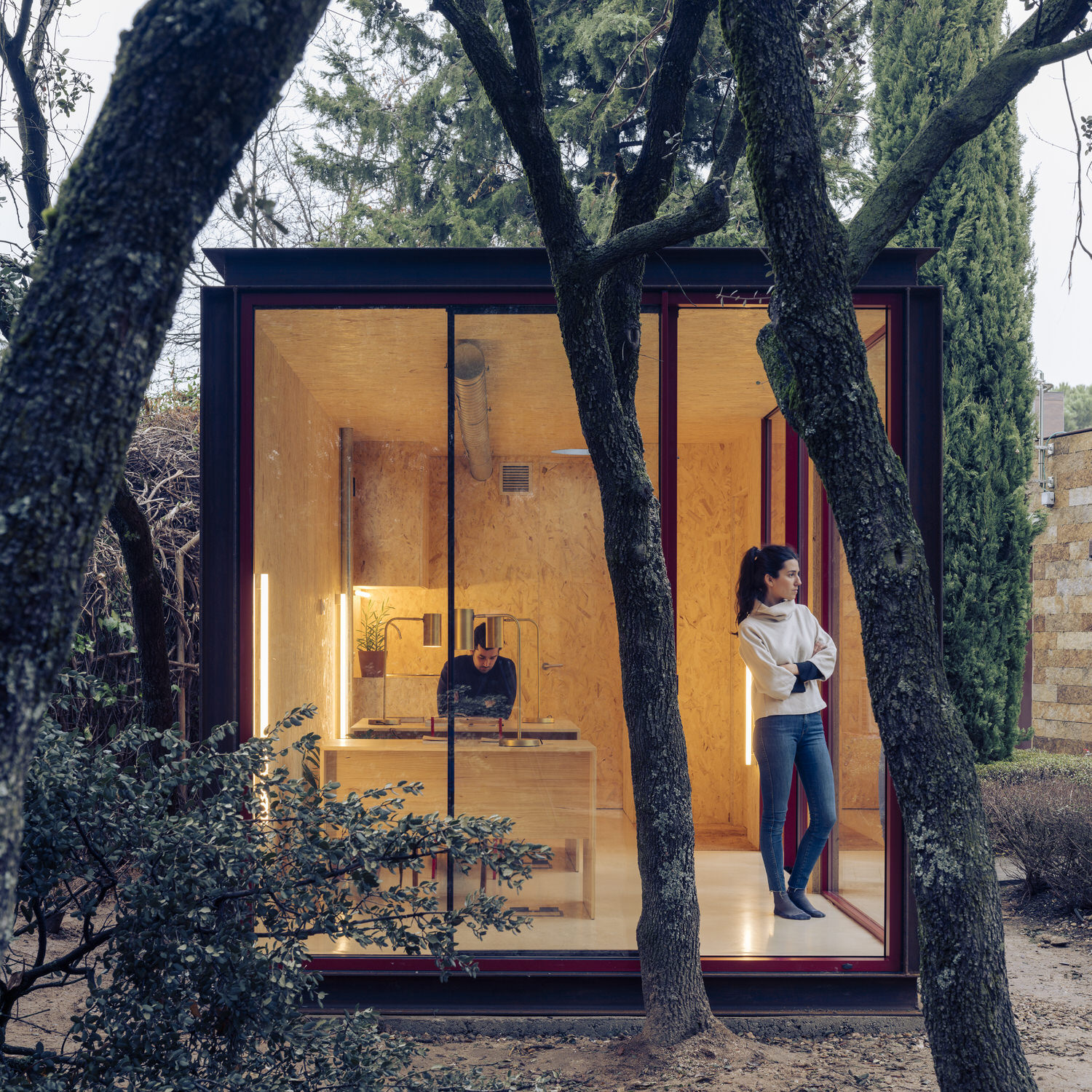 Ignacio De La Vega, Tini Office, Prefab Cabins, Corten Steel OSB Wood | Yellowtrace