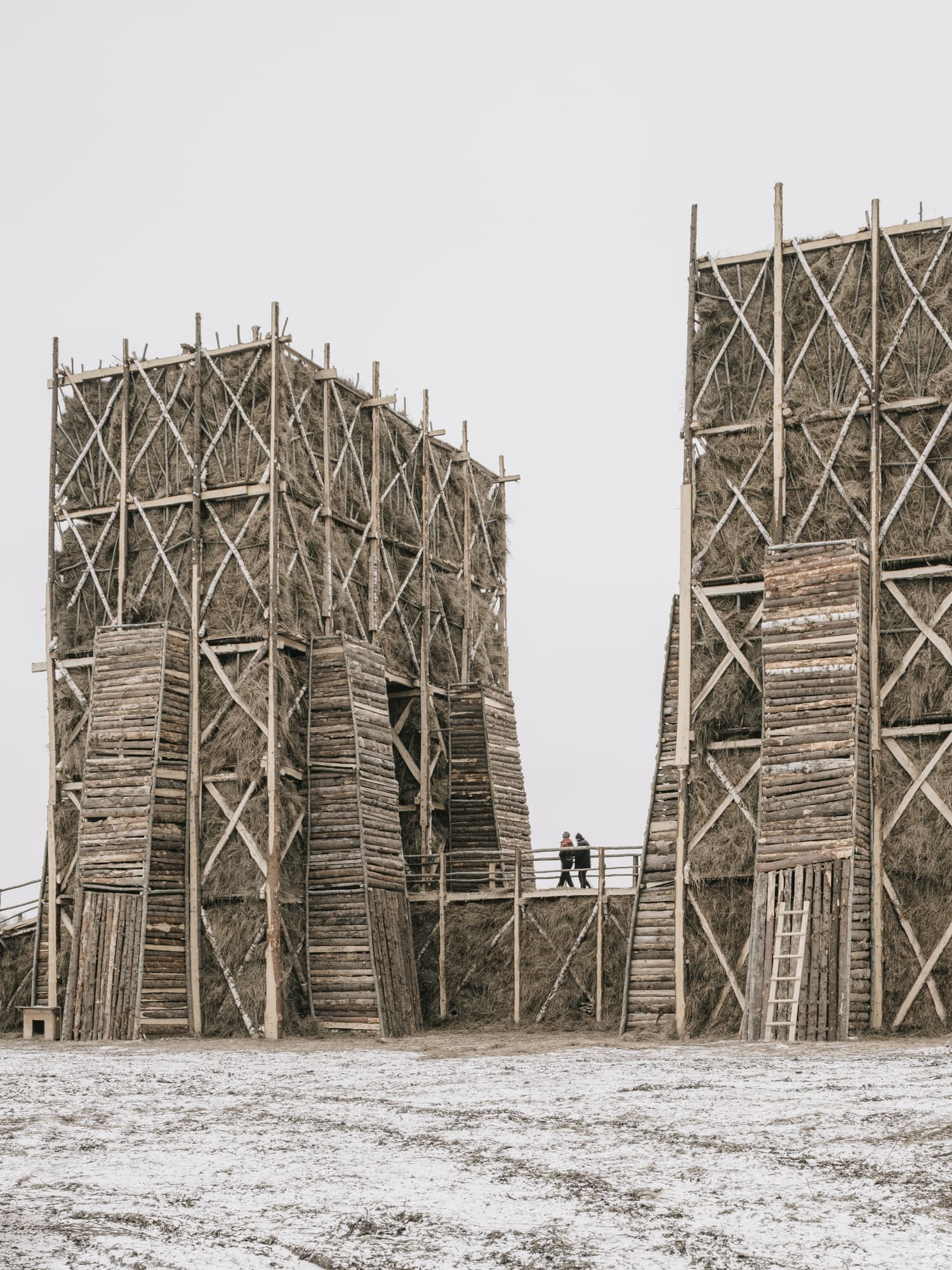Burning Bridges Installation in a Small Russian Village by KATARSIS.