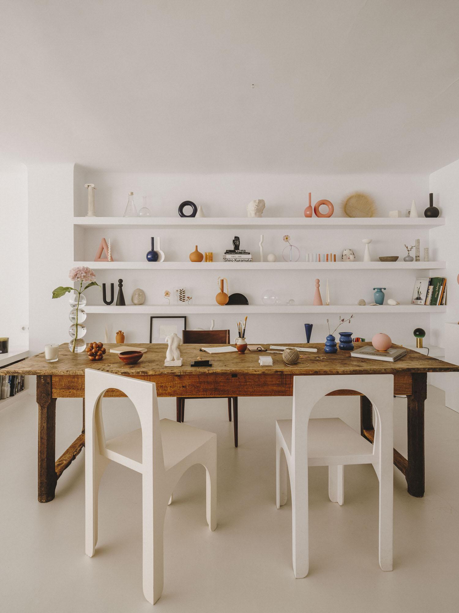 Barcelona Home of Interior Designer Isern Serra & Ceramist Valeria Vasi.