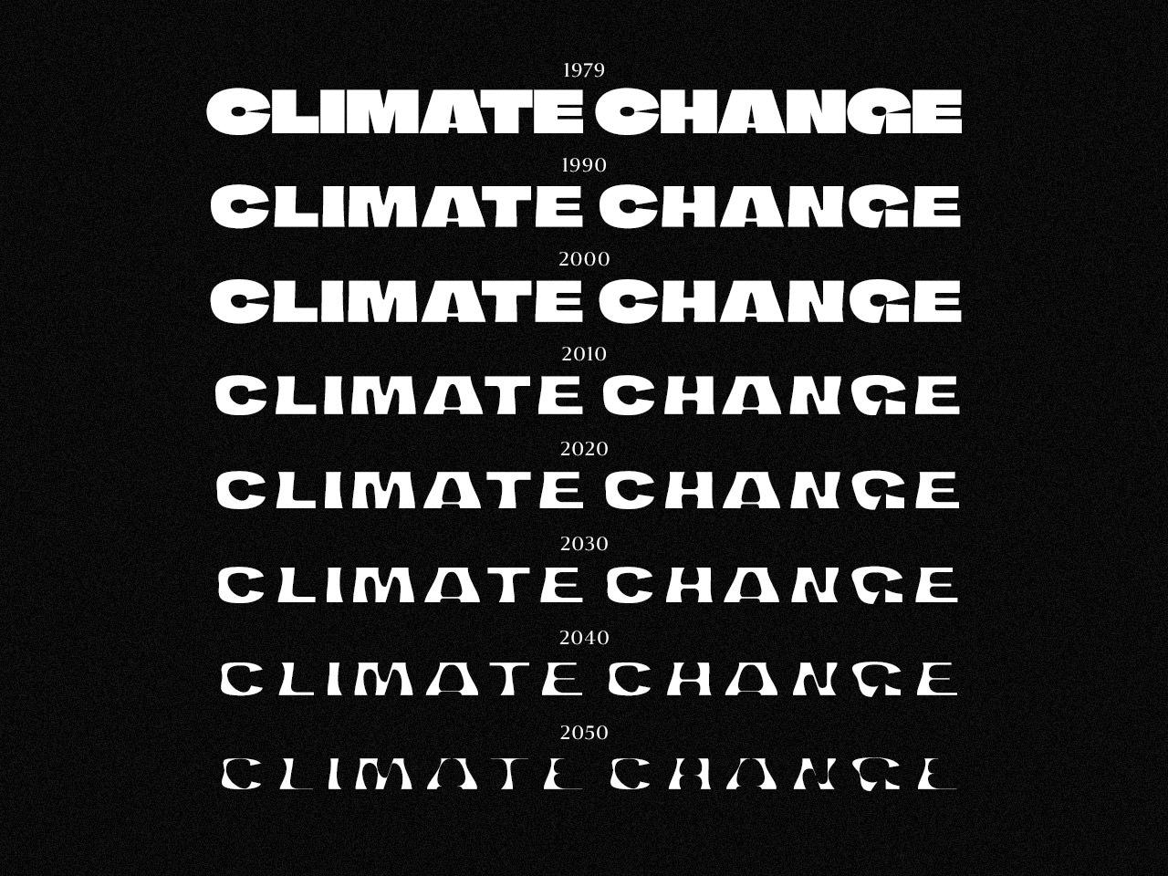 Climate Crisis Font by Helsingin Sanomat.