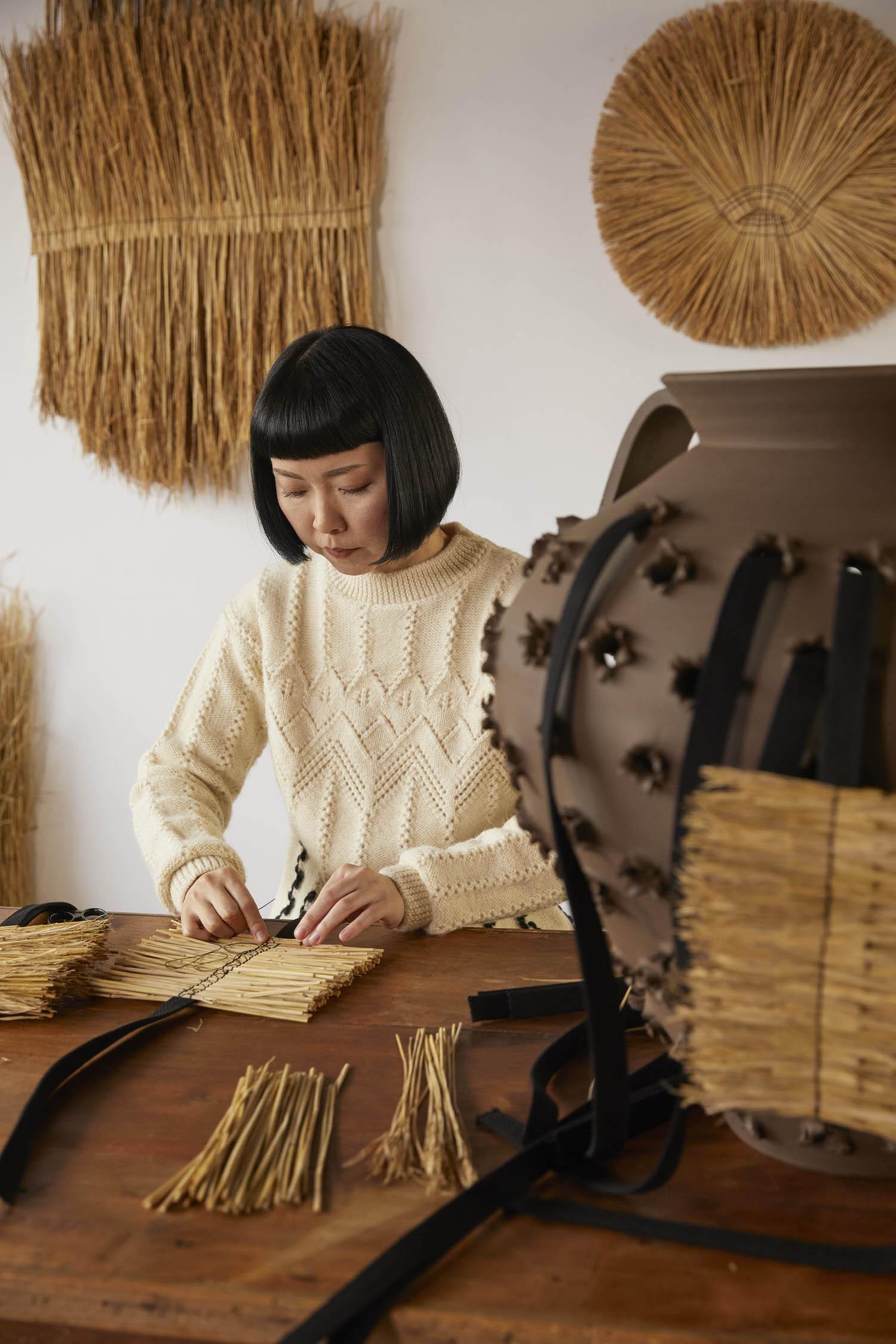 Loewe Waves Grass Weaving Artist Arko Yellowtrace 05